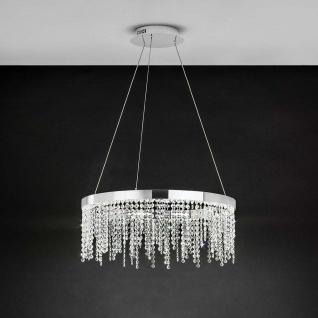 Eglo 39279 Kristall LED Hängeleuchte Antelao 3600lm Chrom Klar