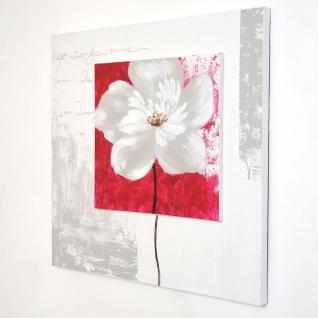 Holländer 273 3114 Wandbild Toscana Leinwand-Holzrahmen Weiß-Grau-Rot