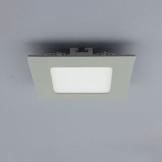 Licht-Design 30839 Einbau LED-Panel 200lm Dimmbar 9x9cm Neutral Silber