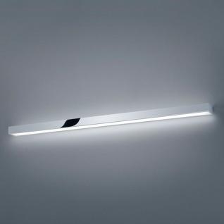 Helestra LED Wandleuchte Theia Lichtboard 120cm IP44 / Chrom, Glas Badleuchte