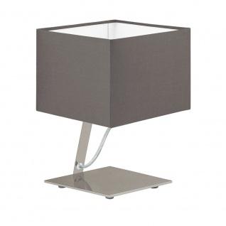 Eglo 95767 Nambia 1 LED Tischleuchte 480lm Nickel-Matt Cappuccino