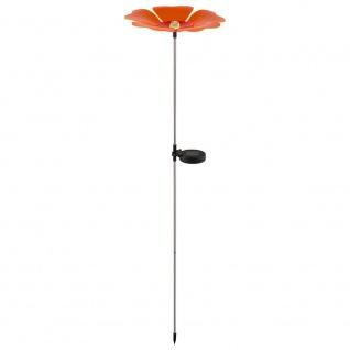 LED Solarleuchte Blume 123cm mit RGB-Farbwechsel Solar Gartenlampe Gartenleuchte