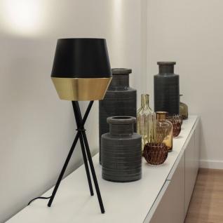 s.LUCE LED Tischleuchte SkaDa Ø 20cm Kupfer Schwarz Nachttischleuchte Tischlampe - Vorschau 5