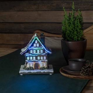 LED Winterhaus batteriebetrieben & 3 mehrfarbigen Leuchtdioden