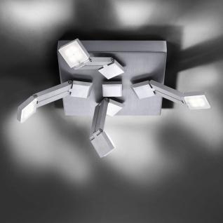 Licht-Trend Convert 4 moderne LED Deckenleuchte mit Dimmer Alu-Gebürstet Deckenlampe
