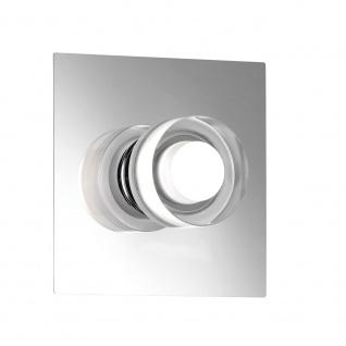 Wofi Lorient LED Wandleuchte 1-flammig Nickel matt Chrom 4848.01.54.0044