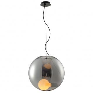 s.LUCE Sphere 40 Pendelleuchte rauchige Glaskugel Grau // B-Ware