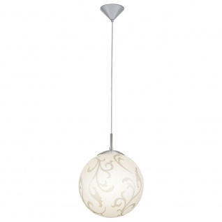 Eglo 90743 Rebecca Hängeleuchte Ø 30cm Weiß Silber Nickel-Matt