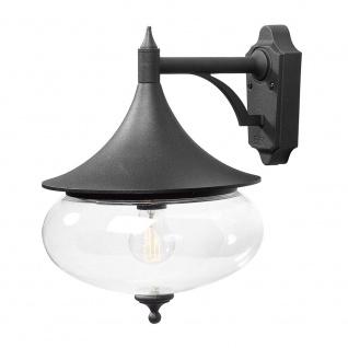 Konstsmide 581-750 Libra Aussen-Wandleuchte Schwarz klares Glas
