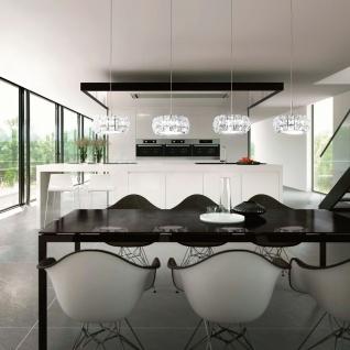 Corliano Kristall LED Hängeleuchte Chrom 4 x 5W Hängelampe