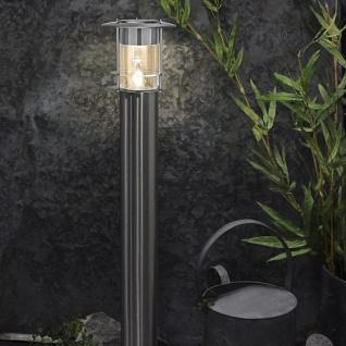 Premium LED Solar Wegeleuchte 78cm Edelstahl Solar Gartenlampe Gartenleuchte