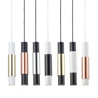 Ideal Lux 104942 Look Pendelleuchte Zylinder Ø 6cm Chrom - Vorschau 4
