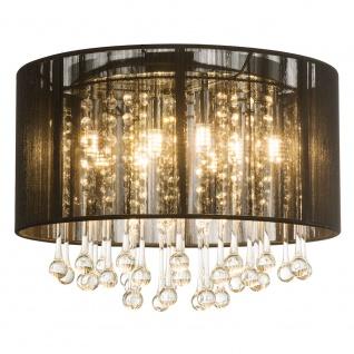 LED Deckenleuchte Bagana LED Chrom, Schwarz, Klar