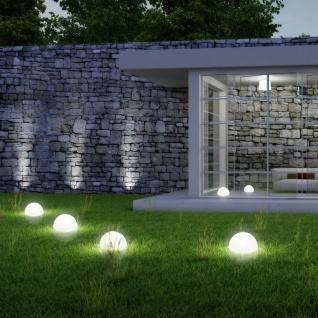 LED Solar-Halbkugel Ø 20cm Weiß Solar Gartenlampe Gartenleuchte