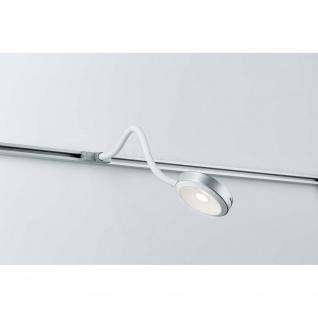 URail Syst LED Leseleuchte Discus 1x5, 5W Chrom matt 230V Metall