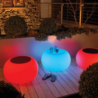 Moree Bubble Outdoor LED Tisch oder Hocker Dekolampe Aussen