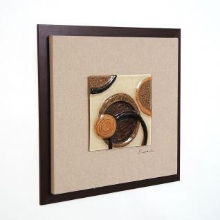 Holländer 306 3185 Wandbild Temporale Holz-Leinwand-Glas Natur-Gold-Braun