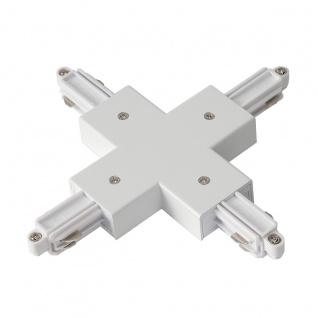 SLV X-Verbinder für 1-Phasen HV-Stromschiene Aufbauversion weiss 143161