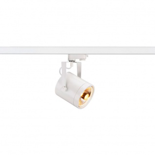 SLV 153421 EuroSpot ES111 Strahler GU10 max. 75W inkl. 3P.-Adapter rund Weiss