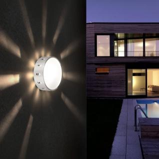 Chiron Effekt Wand- & Deckenleuchte Ø 14cm silberfarben Wandlampe Aussen