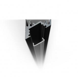 2m Eck-Aluprofil-Erweiterungsset für LED-Strips Abdeckung matt Alu Schwarz eloxiert - Vorschau 2