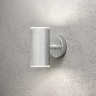 Konstsmide 590-320 Ull LED Aussen-Wandleuchte 2x 700lm 3000K galvanisierter Stahl Polycarbonat Glas