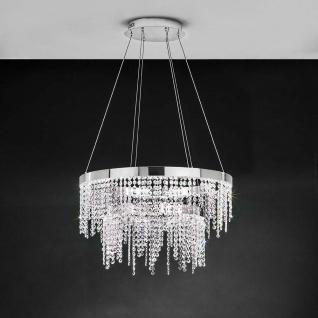 Eglo 39281 Kristall LED Hängelampe Antelao 5800lm Chrom Klar