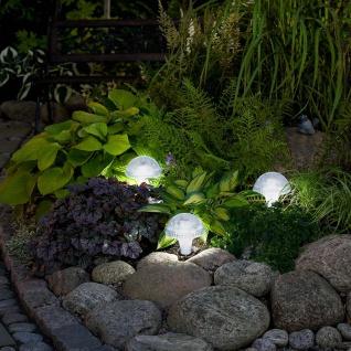 Assisi Pilz Solar LED Leuchte Weiß Solar Gartenlampe Gartenleuchte - Vorschau 3