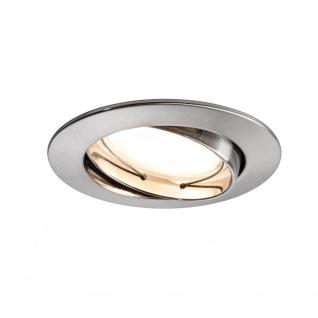 Paulmann 3er LED Einbauleuchten-Set Coin rund 7W Eisen dimm- & schwenkbar 92835