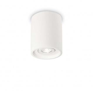 Ideal Lux Deckenleuchte Oak Pl1 Rund Weiß