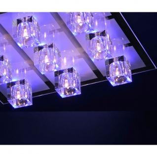 LeuchtenDirekt 50385-17 Oki LED Deckenleuchte 9 x G4 14W + 9 x LED 0, 36W RGBK Silberfarben - Vorschau 3