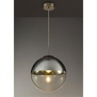 Hängeleuchte Varus Nickel-Matt, Transparent, Chrom
