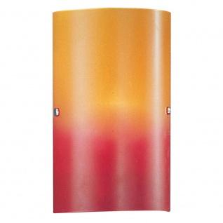 Eglo 83204 Troy 1 Wand- & Deckenleuchte Rot-Orange Nickel-Matt