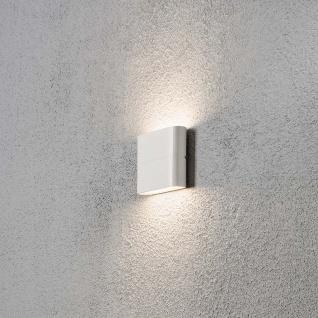 Konstsmide 7972-250 Chieri LED Aussen-Wandleuchte Weiß opales Acrylglas
