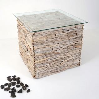 Holländer 123 K 2505 Tisch Marco Treibholz-Glas Natur-Weiss Gekälkt