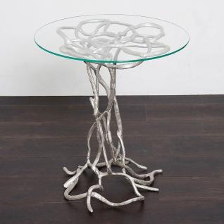 Holländer 344 K 2502 Tisch Contessa Aluminium-Glas Silber