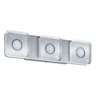 Paulmann WallCeiling eckig Tucana IP44 LED 13, 5W Alu eloxiert/Klar 230V Metall/Acryl