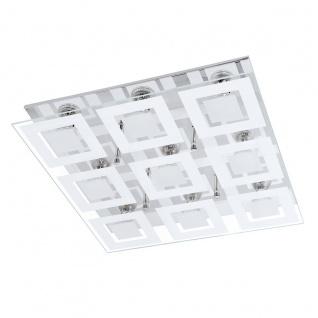 Eglo 94227 Almana LED Wand & Deckenleuchte 9 x 3 W Stahl Chrom Glas satiniert Weiss klar