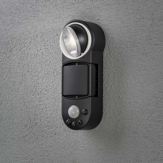 Konstsmide 7696-750 Prato Batterie LED Wandaufbauleuchte mit Bewegungsmelder schwenkbar 12V Schwarz - Vorschau 3