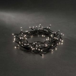 Microlight Lichterkette verschweißt mit 8 Funktionen 100 klare Birnen 24V Außentrafo