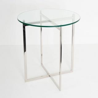 Holländer 244 K 2506 Tisch Favorito Edelstahl-Glas Silber-Klar