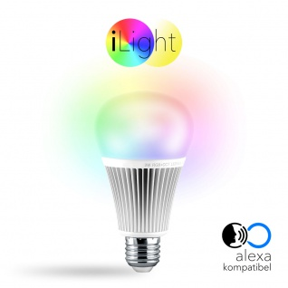 s.LUCE iLight E27 LED-Leuchtmittel 9W Alexa Kompatibel RGB + CCT LED-Lampe Farbwechsel & Dual White
