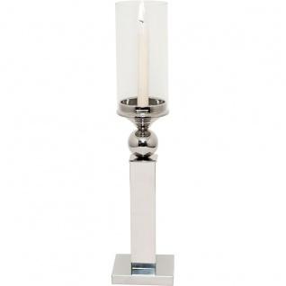 Holländer 291 3508 Windlicht Tulipano Klein Aluminium-Glas Silber-Klar - Vorschau 4