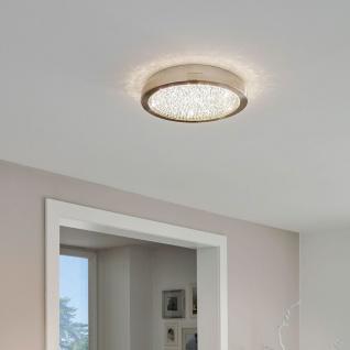 Eglo 32047 Arezzo 2 LED Deckenlampe ?34cm 2300lm Nickel-Matt Klar