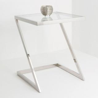 Holländer 209 2509 G Tisch Bilancia Gross Edelstahl-Glas Silber-Klar