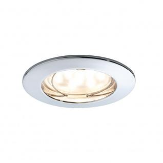 Paulmann 928.12 Einbauleuchte LED Coin klar rund 7W Chrom dimmbar