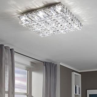 Eglo 94315 Lonzaso LED Deckenleuchte 16 x 33 W Alu Stahl Chrom Kristall klar