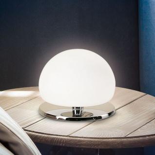 Fabas Luce 2513-30-138 Morgana Tischleuchte mit Touchdimmer Tischllampe Chrom Weiß