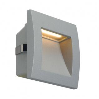 SLV Downunder OUT LED S Wandeinbauleuchte Silbergrau 233604