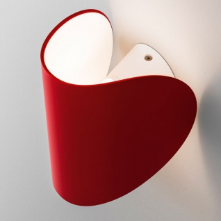 FontanaArte IO LED-Wandleuchte verstellbar rot Designerleuchte